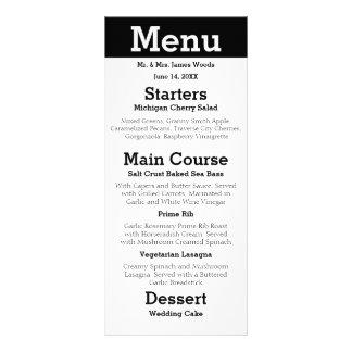Casal moderno da silhueta - menu da recepção 10.16 x 22.86cm panfleto