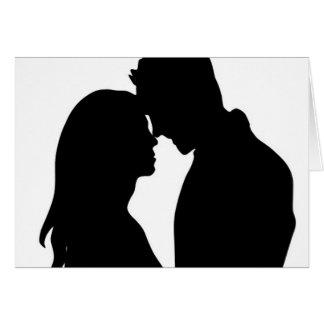 Casal moderno da silhueta - obrigado cartão de