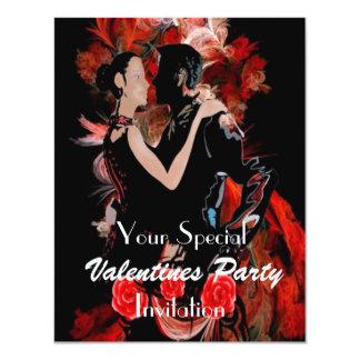 Casal romântico da dança convite 10.79 x 13.97cm