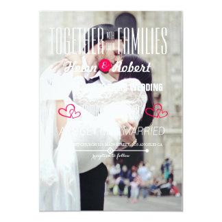 casal wedding que beija na felicidade da rua convite 12.7 x 17.78cm
