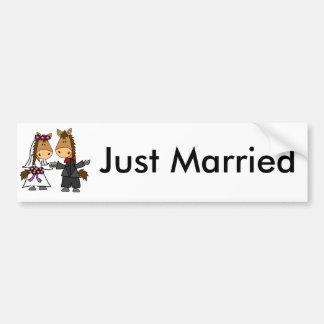 Casamento adorável dos noivos do cavalo adesivo para carro