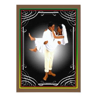 Casamento africano convite 13.97 x 19.05cm