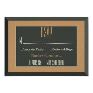 Casamento alegre quadro elegante do urso de RSVP Convite 8.89 X 12.7cm