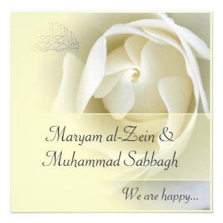 Casamento amarelo islâmico/noivado do rosa branco convites