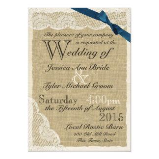 Casamento antigo do país do arco do marinho do convite 12.7 x 17.78cm