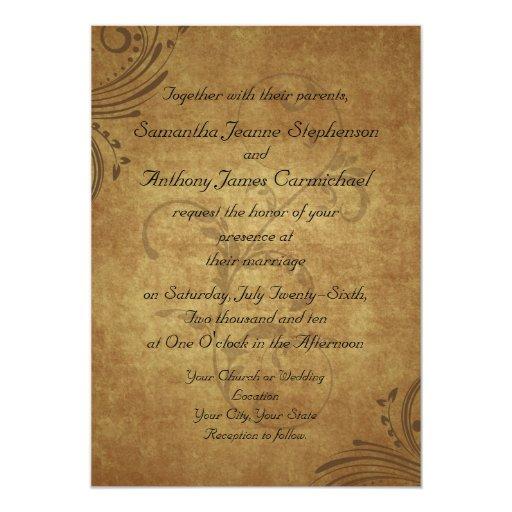 Casamento antigo do redemoinho de Teastain do Convite Personalizado