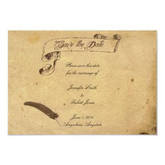 Casamento antiquado do Quill do pergaminho da Convites Personalizado