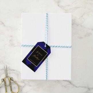 Casamento azul bonito da samambaia da folha etiqueta para presente