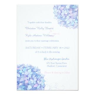 Casamento azul do jardim dos Hydrangeas da Convite 12.7 X 17.78cm