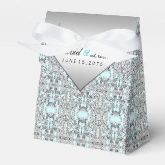 Casamento azul e de prata da cerceta caixinha de lembrancinhas para festas