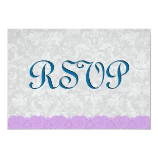Casamento azul e roxo do Aqua do laço