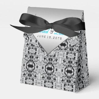 Casamento azul elegante da prata e da cerceta caixinha de lembrancinhas para festas