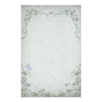 Casamento azul floral do vintage papelaria