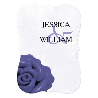 Casamento azul roxo chique da flor do encanto convite personalizado