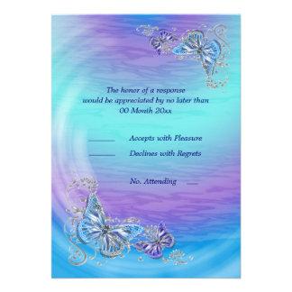 Casamento azul roxo do noivado do aniversário do r convites