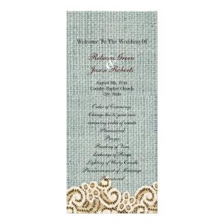 casamento bege do país do laço de serapilheira 10.16 x 22.86cm panfleto