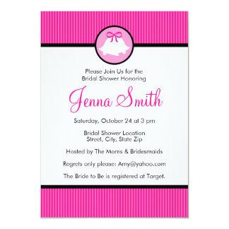 Casamento Bels do rosa quente do chá de panela   Convite 12.7 X 17.78cm