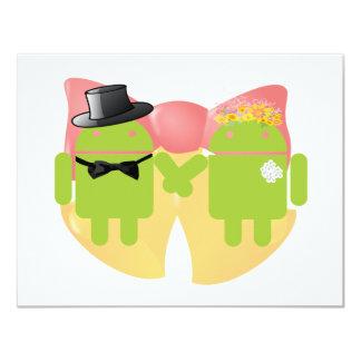 Casamento Bels do vestuário do casamento de Droids Convite 10.79 X 13.97cm