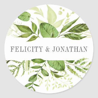 Casamento botânico verde selvagem do prado   adesivo