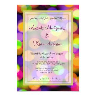 Casamento brilhante e Sparkling do teste padrão de Convite 12.7 X 17.78cm