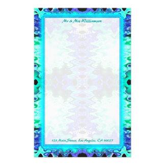 casamento colorido de turquesa papel personalizados