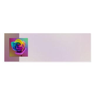 Casamento cor-de-rosa da flor do arco-íris cartão de visita