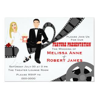 Casamento da apresentação da característica convite 12.7 x 17.78cm