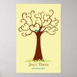 Casamento da árvore da impressão digital - Heartas