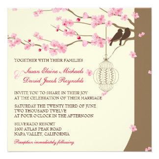 Casamento da flor de cerejeira da gaiola do vintag