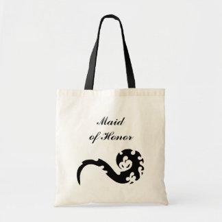 Casamento da madrinha de casamento do dragão da sacola tote budget