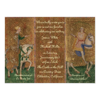 Casamento da senhora e do cavaleiro do convite 13.97 x 19.05cm
