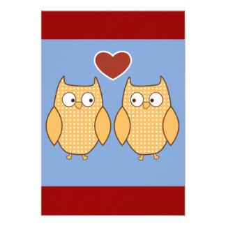 casamento das corujas do pássaro dos pássaros do a convite