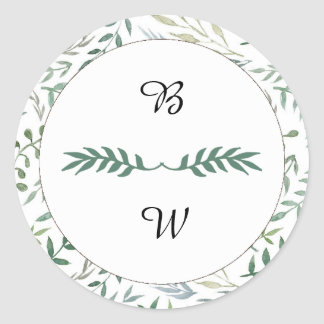 Casamento das hortaliças da folha da aguarela adesivo