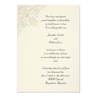 Casamento de canto do motivo do Victorian Convite 12.7 X 17.78cm