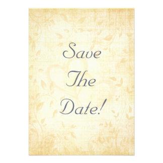 Casamento de papel envelhecido vintage convites