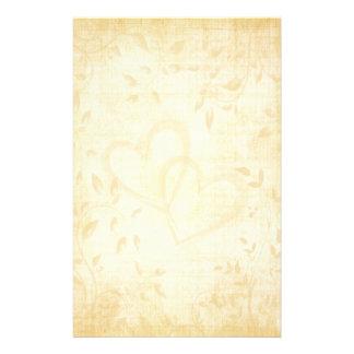 Casamento de papel envelhecido vintage papel personalizado