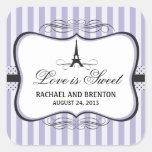 Casamento de Paris da torre Eiffel Adesivo Em Forma Quadrada