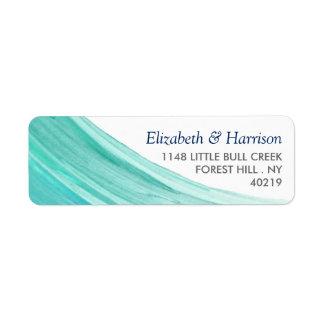 Casamento de praia elegante das marés de turquesa etiqueta endereço de retorno
