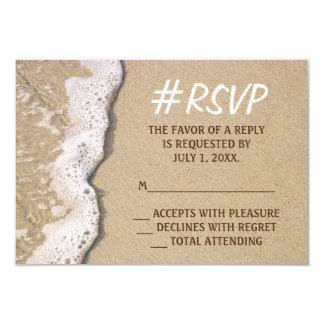 Casamento de praia RSVP de Hashtag Convite 8.89 X 12.7cm