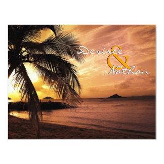 Casamento de praia RSVP do por do sol Convite 10.79 X 13.97cm