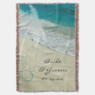 Casamento de praia tropical throw blanket