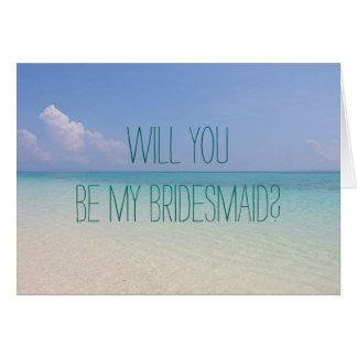 Casamento de praia você será meus cartões da dama