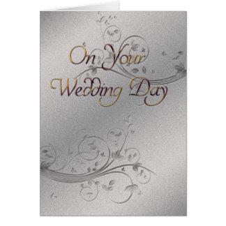 Casamento de prata cartão comemorativo