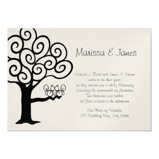 Casamento do amor do esquilo convite 12.7 x 17.78cm