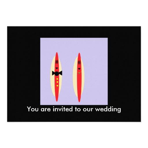 Casamento do cachorro quente convites