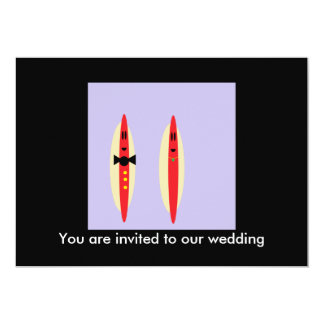 Casamento do cachorro quente convite 12.7 x 17.78cm