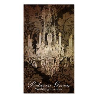 casamento do candelabro do damasco do vintage cartão de visita