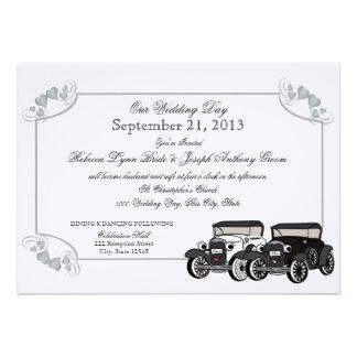 Casamento do carro antigo convites