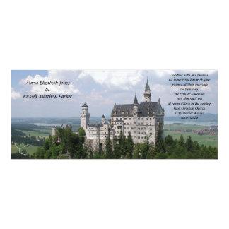 Casamento do castelo do conto de fadas convite 10.16 x 23.49cm