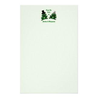 Casamento do comedor de rãs - papel de carta papelaria